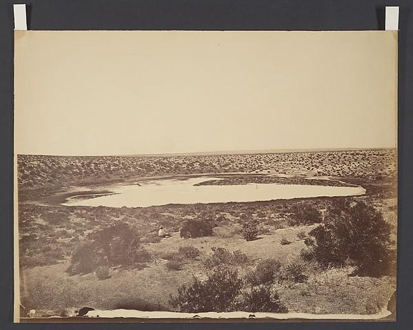 Desert Lake, near Ragtown, Nevada, Timothy H. O'Sullivan (American, born Ireland, 1840–1882), Albumen silver print from glass negative