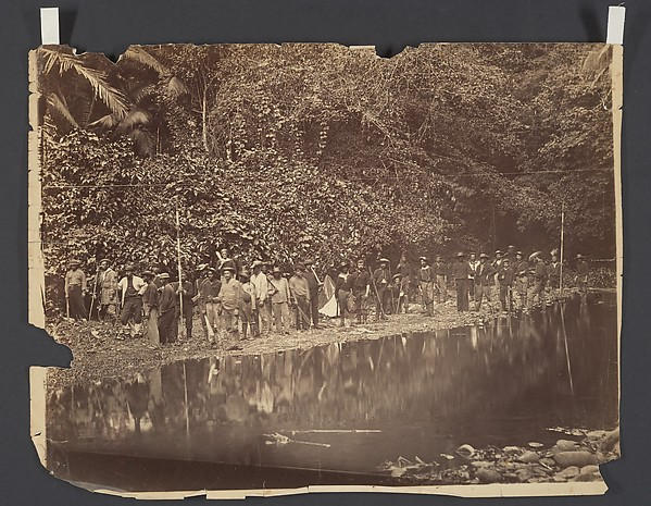 Return of Commander Selfridge and his Reconnaissance Party from an Expedition in the Interior of Darien, Timothy H. O'Sullivan (American, born Ireland, 1840–1882), Albumen silver print from glass negative