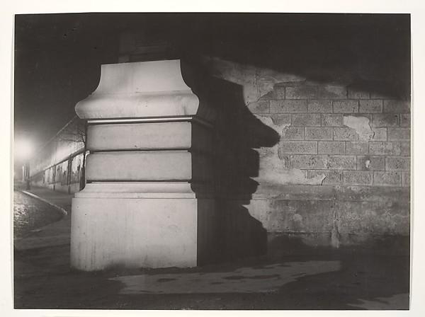 Le pilier du Métro Corvisart, Brassaï (French (born Romania), Brașov 1899–1984 Côte d'Azur), Gelatin silver print