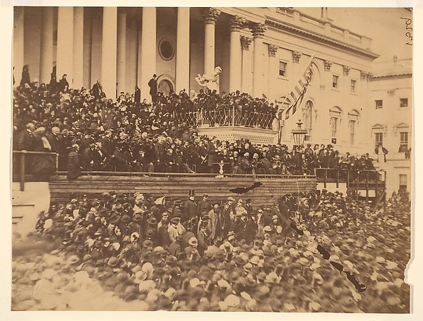 Lincoln Inauguration, Alexander Gardner (American, Glasgow, Scotland 1821–1882 Washington, D.C.), Albumen silver print from glass negative