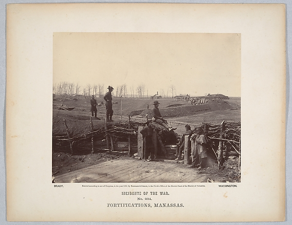 Fortifications, Manassas, Barnard & Gibson (American, active 1860s), Albumen silver print from glass negative