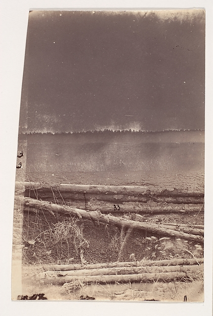 The Wilderness Battlefield, Unknown (American), Albumen silver prints from glass negatives