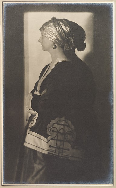 The Silver Cap, Adolf de Meyer (American (born France), Paris 1868–1946 Los Angeles, California), Gelatin silver print