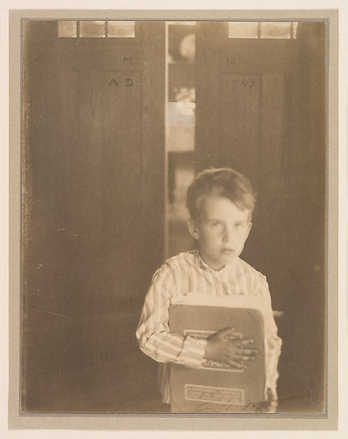 "Boy with ""Camera Work"", Clarence H. White (American, 1871–1925), Platinum print"
