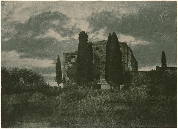 [Italian Villa in Autumn], Hugo Henneberg (Austrian, 1863–1918), Gum bichromate print