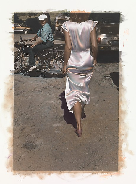 Silk Dress Coming, Ann Rhoney (American, born Niagara Falls, New York, 1953), Gelatin silver print with applied color