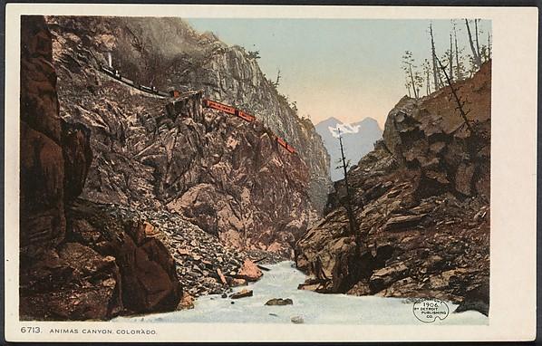 Animas Canyon, Colorado, William Henry Jackson (American, 1843–1942), Chromolithograph