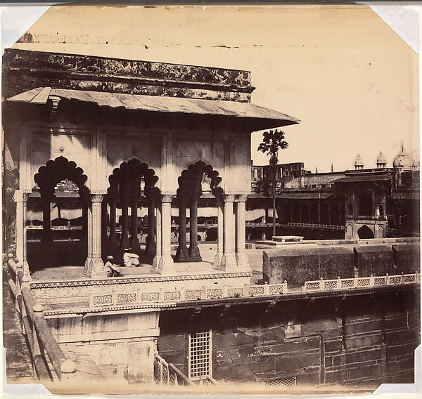 The Diwan-i Khas from the Mussaman Burj, Agra Palace, John Murray (British, Blackhouse, Aberdeenshire, Scotland 1809–1898 Sheringham, Norfolk county, England), Albumen silver print from paper negative