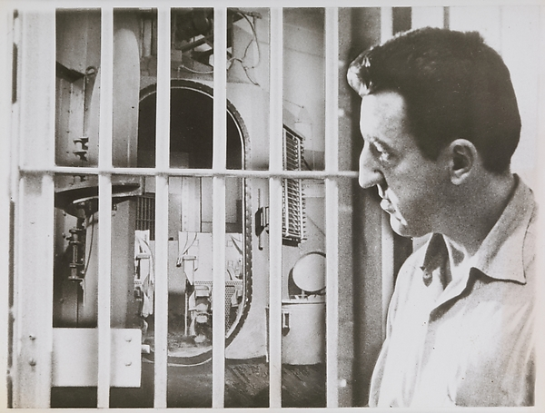 [Caryl Chessman Contemplating Death Chamber], Unknown (American), Gelatin silver print