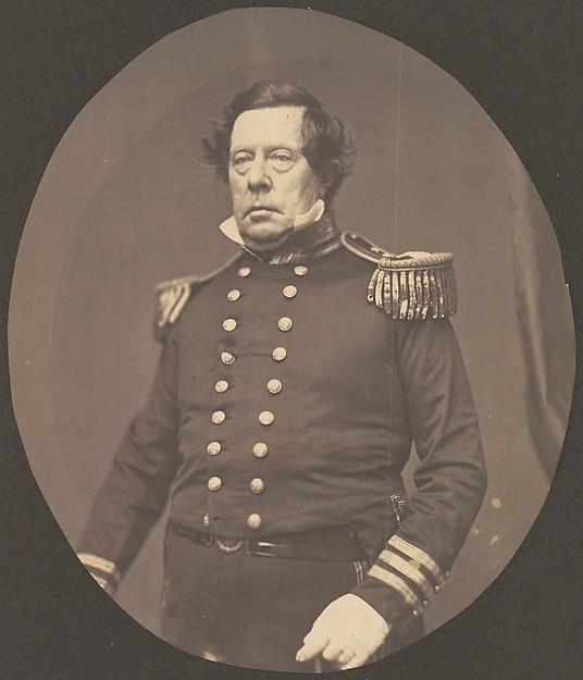 [Commodore Matthew Calbraith Perry], Mathew B. Brady (American, born Ireland, 1823?–1896 New York), Salted paper print from glass negative