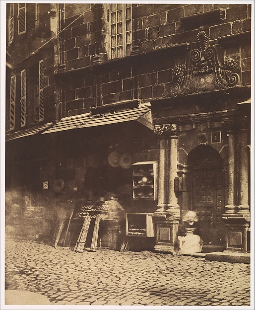 [Village Scene, Brittany], Louis-Rémy Robert (French, 1810–1882), Salted paper print from paper negative