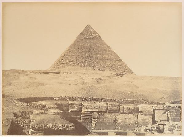 Pyramides de Gizèh, Gustave Le Gray (French, 1820–1884), Albumen silver print from glass negative