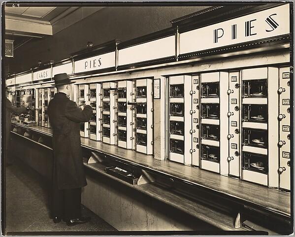 Automat, 977 Eighth Avenue, Manhattan, Berenice Abbott (American, Springfield, Ohio 1898–1991 Monson, Maine), Gelatin silver print