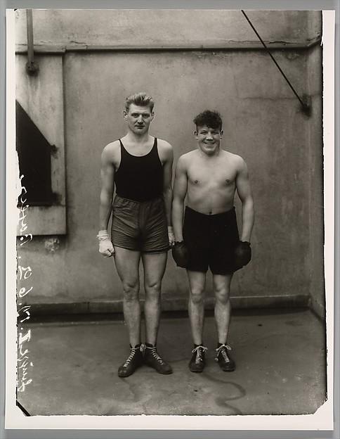 Boxers. Paul Röderstein and Hein Hesse. Köln., August Sander (German, 1876–1964), Gelatin silver print