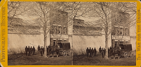 Slave Pen, Alexandria, Virginia, Brady & Co. (American, active 1840s–1880s), Albumen silver print from glass negative