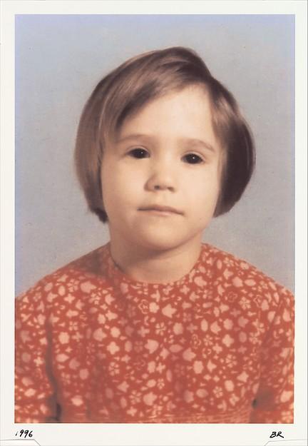 Untitled (Girl with Puppy Dog Eyes), Bradley Rubenstein (American, born La Grange, Illinois, 1963), Inkjet print