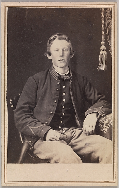 Private William Henry Lord, Company I, Eleventh Kansas Volunteer Cavalry, George Wertz (American, active Kansas City, Missouri, 1860s), Albumen silver print from glass negative
