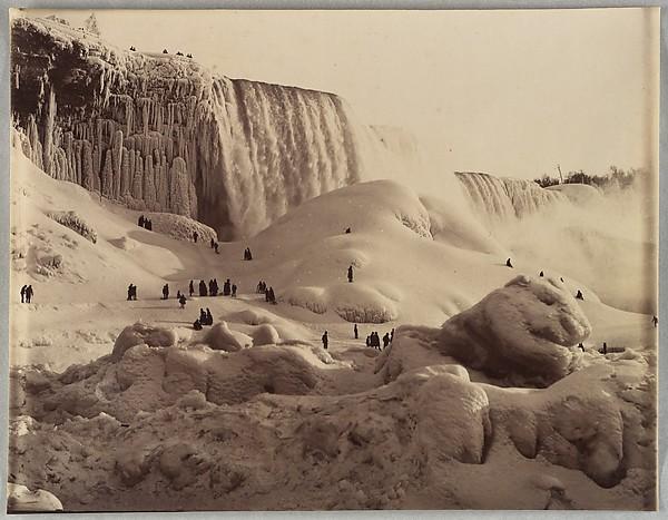 [Ice Bridge and the American Falls, Niagara, New York], Unknown (American), Albumen silver print from glass negative