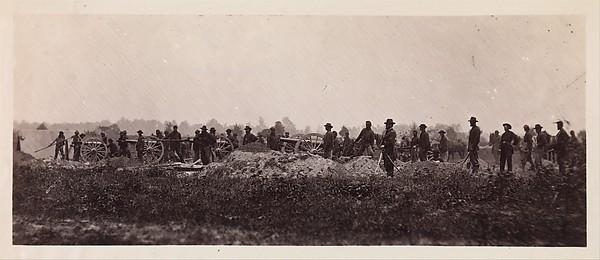 Pennsylvania Light Artillery, Battery B, Petersburg, Virginia, Timothy H. O'Sullivan (American, born Ireland, 1840–1882), Albumen silver print from glass negative