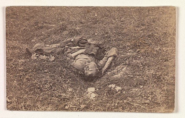 Confederate Soldier [on the Battlefield at Antietam], Alexander Gardner (American, Glasgow, Scotland 1821–1882 Washington, D.C.), Albumen silver print from glass negative