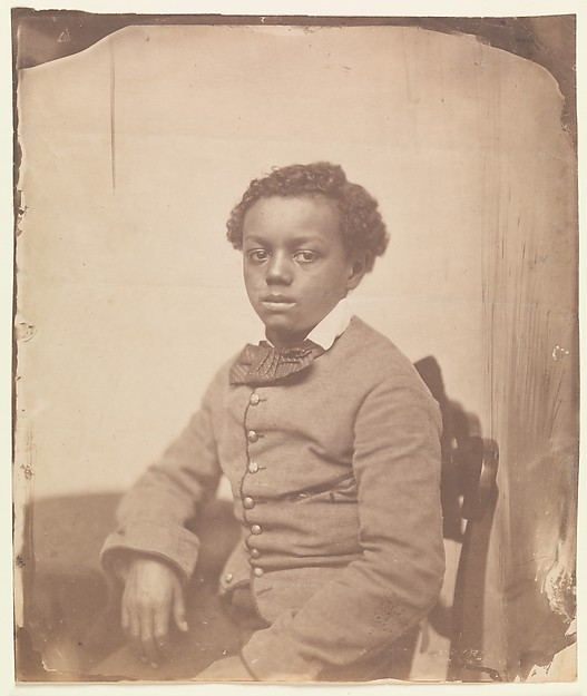 [Portrait of a Youth], Unknown (American), Salted paper print from glass negative
