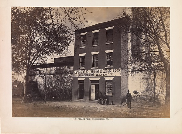 Slave Pen, Alexandria, Virginia, Andrew Joseph Russell (American, 1830–1902), Albumen silver print from glass negative