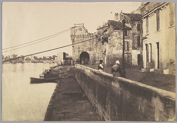 Arles, Porte des Châtaignes, Charles Nègre (French, 1820–1880), Salted paper print from a paper negative