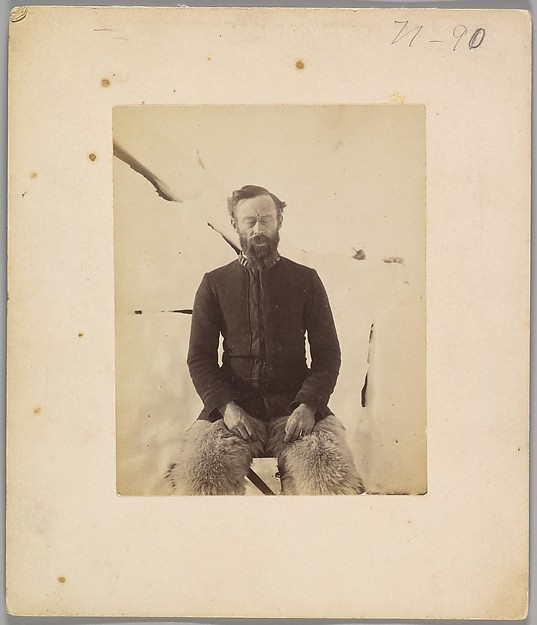 [Self-Portrait], Robert E. Peary (American, 1856–1920), Albumen silver print from glass negative