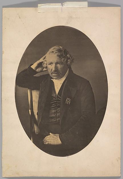 Louis-Jacques-Mandé Daguerre, John Jabez Edwin Mayall (British, Oldham, Lancashire 1813–1901 West Sussex), Albumen silver print from glass negative