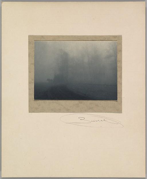 Carriage in the Fog, Josef Sudek (Czech, 1896–1976), Gelatin silver print