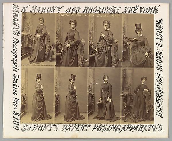 [Advertisement for Sarony's Photographic Studies], Napoleon Sarony (American (born Canada), Quebec 1821–1896 New York), Albumen silver print from glass negative; lithograph