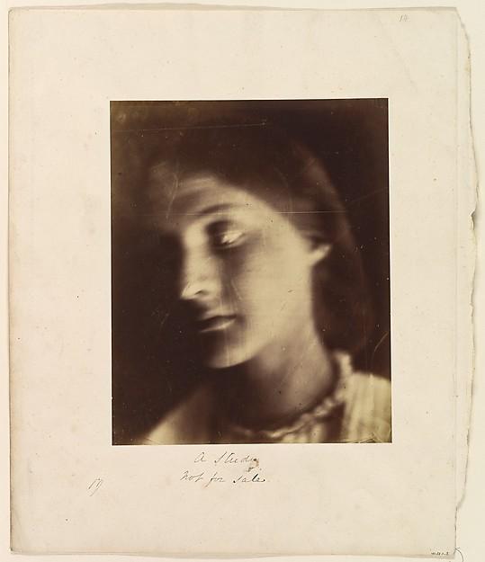 A Study, Julia Margaret Cameron (British (born India), Calcutta 1815–1879 Kalutara, Ceylon), Albumen silver print from glass negative