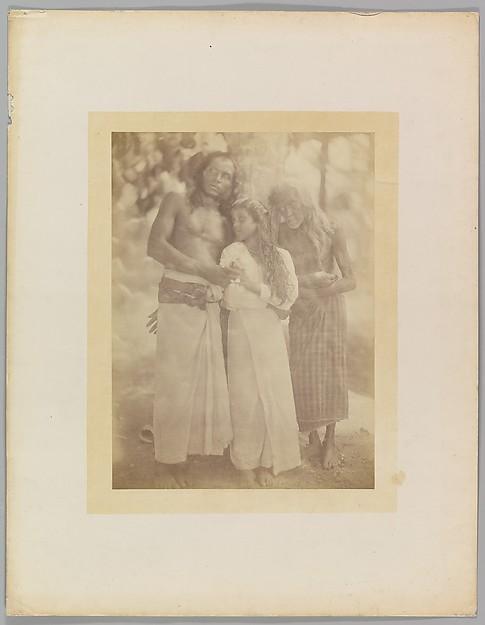 [Ceylonese Group by a Tree], Julia Margaret Cameron (British (born India), Calcutta 1815–1879 Kalutara, Ceylon), Albumen silver print from glass negative
