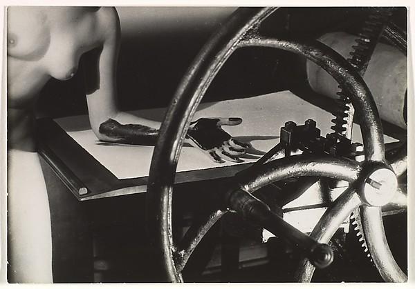 Meret Oppenheim at the Printing Wheel, Man Ray (American, Philadelphia, Pennsylvania 1890–1976 Paris), Gelatin silver print