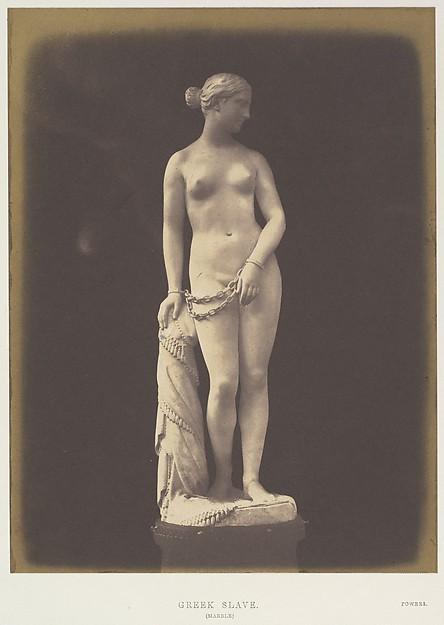 Greek Slave, Hugh Owen (British, 1808–1897), Salted paper print from paper negative