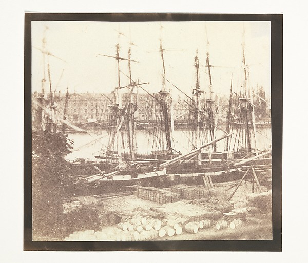 The Seine at Rouen, William Henry Fox Talbot (British, Dorset 1800–1877 Lacock), Salted paper print from paper negative