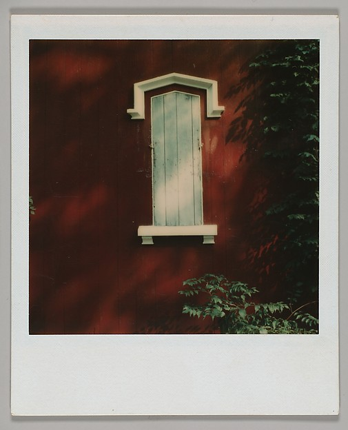 [Shutter of Red Clapboard House], Walker Evans (American, St. Louis, Missouri 1903–1975 New Haven, Connecticut), Instant color print