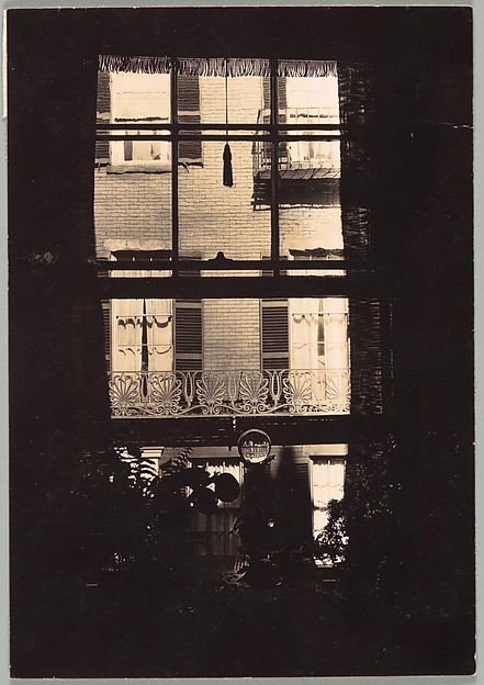 [Window with Crystal Ball, West Cedar Street, Beacon Hill, Boston, Massachusetts], Walker Evans (American, St. Louis, Missouri 1903–1975 New Haven, Connecticut), Gelatin silver print