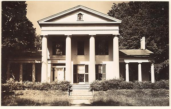 [Greek Revival House, Haydenville, Massachusetts], Walker Evans (American, St. Louis, Missouri 1903–1975 New Haven, Connecticut), Gelatin silver print