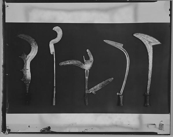 [Five Knifes, Belgian Congo], Walker Evans (American, St. Louis, Missouri 1903–1975 New Haven, Connecticut), Gelatin silver print