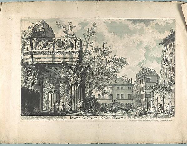 Veduta del Tempio di Giove Tonante, Giovanni Battista Piranesi (Italian, Mogliano Veneto 1720–1778 Rome), Engraving
