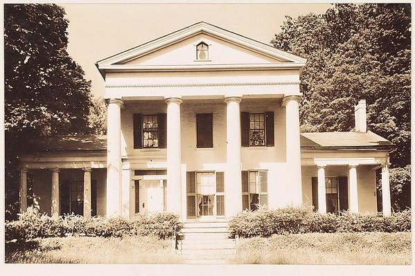 [Greek Revival House with Full-Façade Entry Porch, Haydenville, Massachusetts], Walker Evans (American, St. Louis, Missouri 1903–1975 New Haven, Connecticut), Gelatin silver print