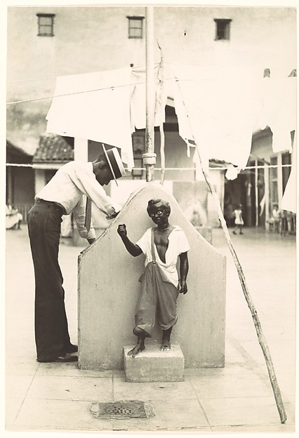 [Man at Communal Laundry in Courtyard, Havana], Walker Evans (American, St. Louis, Missouri 1903–1975 New Haven, Connecticut), Gelatin silver print