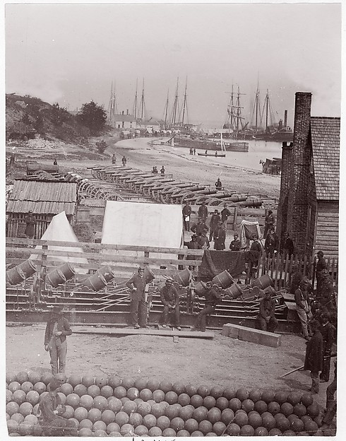 Yorktown Landing, James F. Gibson (American, born 1828), Albumen silver print from glass negative