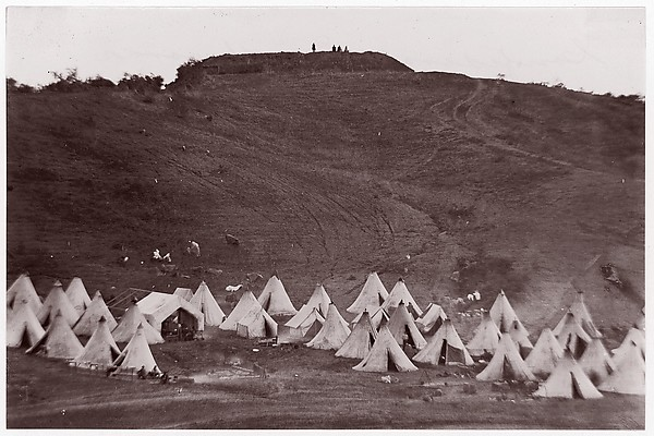 Confederate Earthworks, Belle Plain, Virginia, James Gardner (American, born 1832), Albumen silver print from glass negative