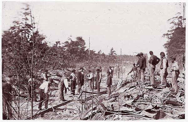 Bull Run. Orange and Alexandria R.R. near Union Mills, Timothy H. O'Sullivan (American, born Ireland, 1840–1882), Albumen silver print from glass negative