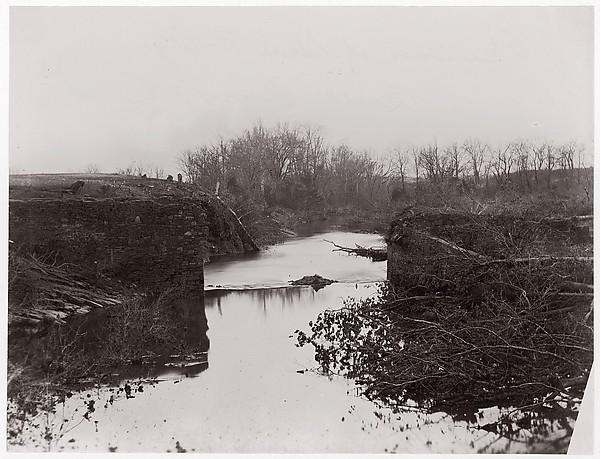 Bull Run.  The Stone Bridge, Timothy H. O'Sullivan (American, born Ireland, 1840–1882), Albumen silver print from glass negative