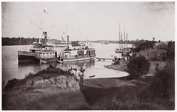 Transports, Tennessee River, Formerly attributed to Mathew B. Brady (American, born Ireland, 1823?–1896 New York), Albumen silver print from glass negative