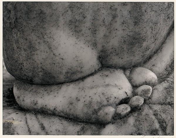 Detail, Gravestone Carving, Susanville, California, Ansel Easton Adams (American, San Francisco, California 1902–1984 Carmel, California), Black and white instant print