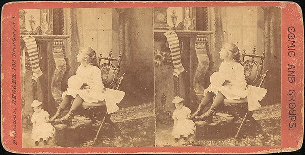 [Group of 6 Stereograph Views of Christmas Scenes], Hegger (American), Albumen silver prints